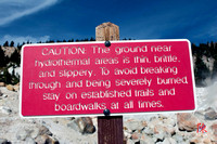 LVNP - Bumpass Hell Warning Sign
