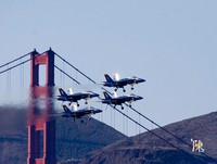 Blue Angels formation with Landing Gear Down