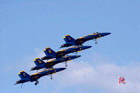 Blue Angels Fly By with Landing Gear Down